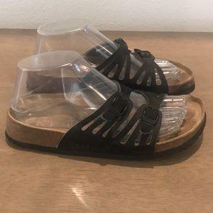 Authentic Betula by Birkenstock black sandals Sz 6